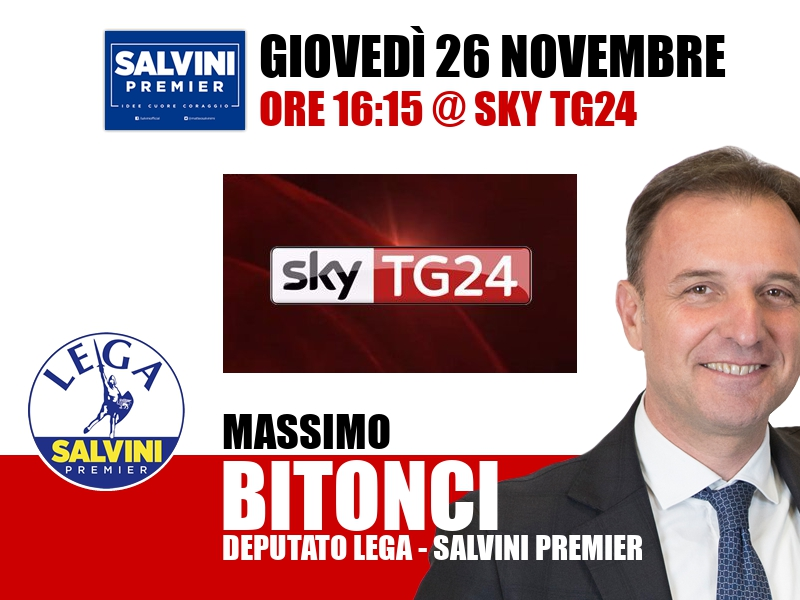 Massimo Bitonci a Economia (Sky TG24)