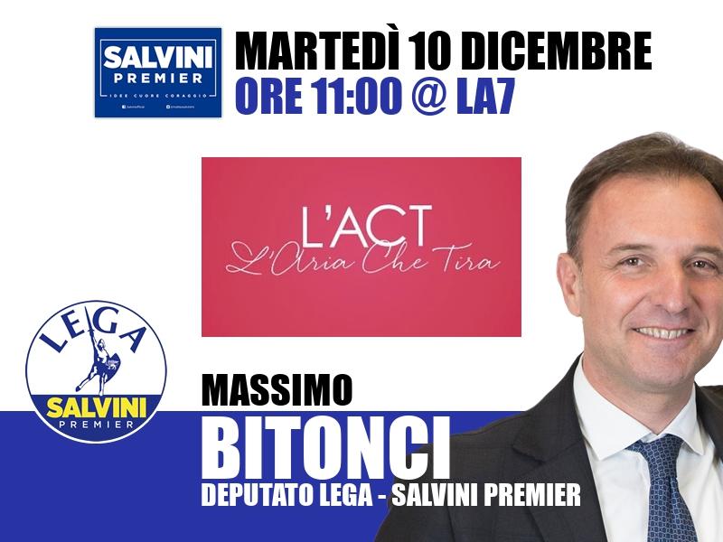 Massimo Bitonci a L'Aria che Tira (La7)