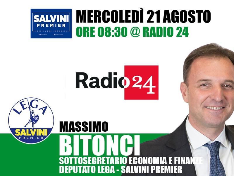 Massimo Bitonci a Radio 24 (Radio 24)