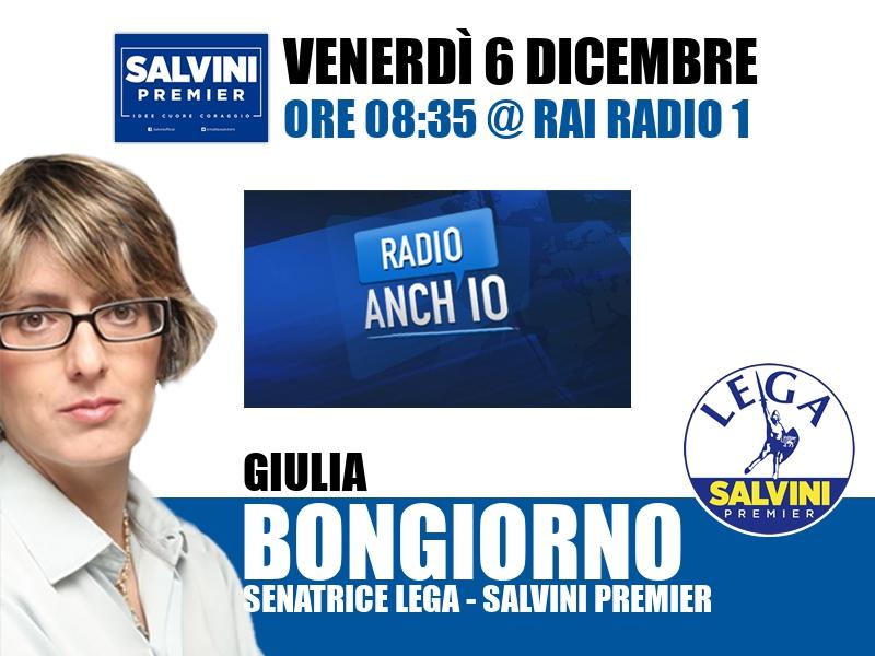 Giulia Bongiorno a Radio Anch'io (Rai Radio 1)