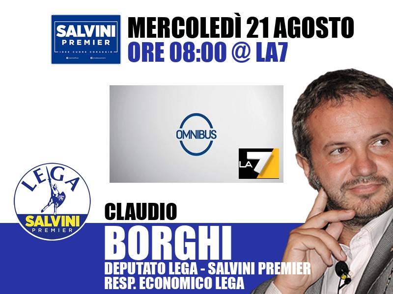 Claudio Borghi a Omnibus (La7)