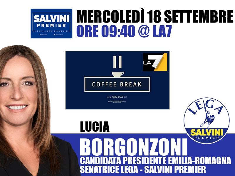 Lucia Borgonzoni a Coffee Break (La7)