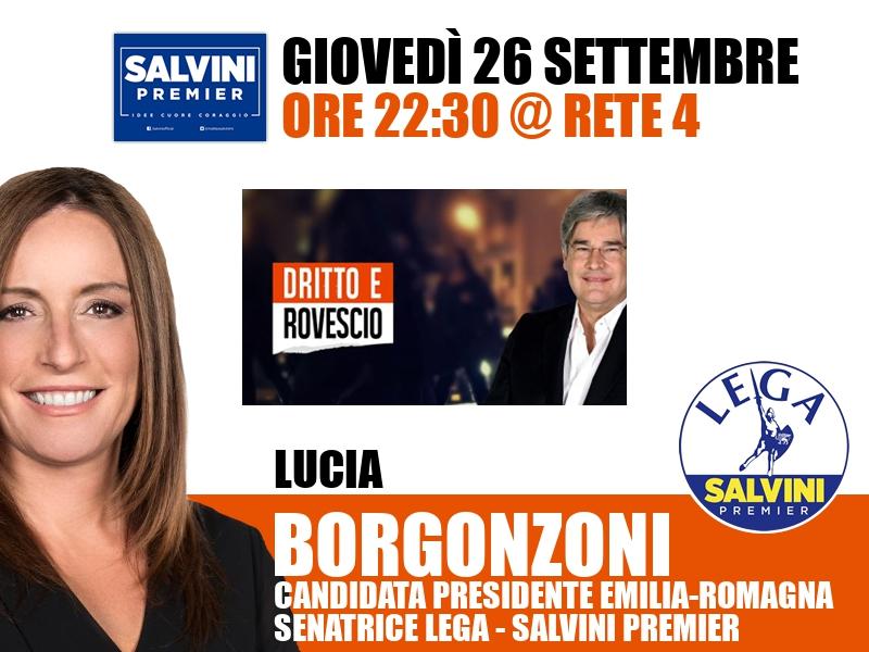 Lucia Borgonzoni a Dritto e Rovescio (Rete 4)