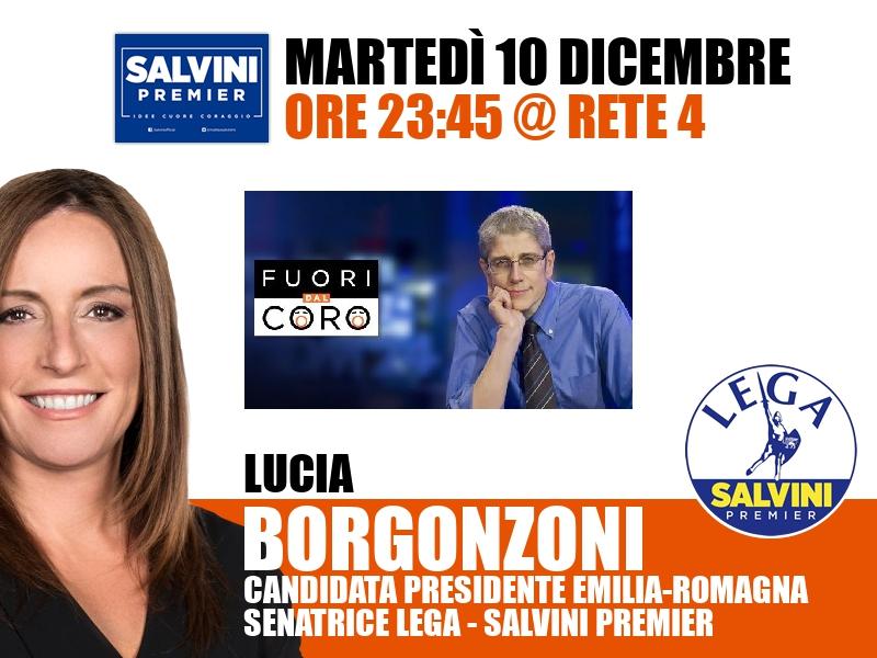 Lucia Borgonzoni a Fuori dal coro (Rete 4)