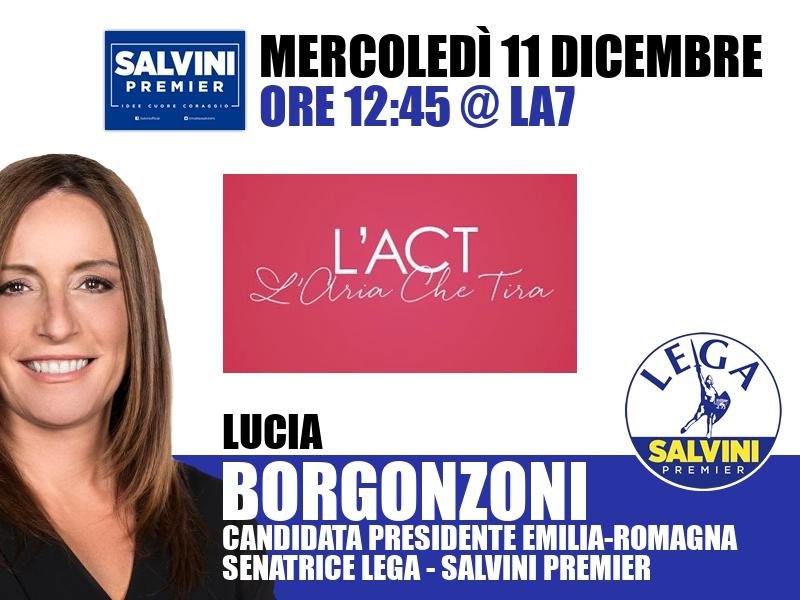 Lucia Borgonzoni a L'Aria che Tira (La7)