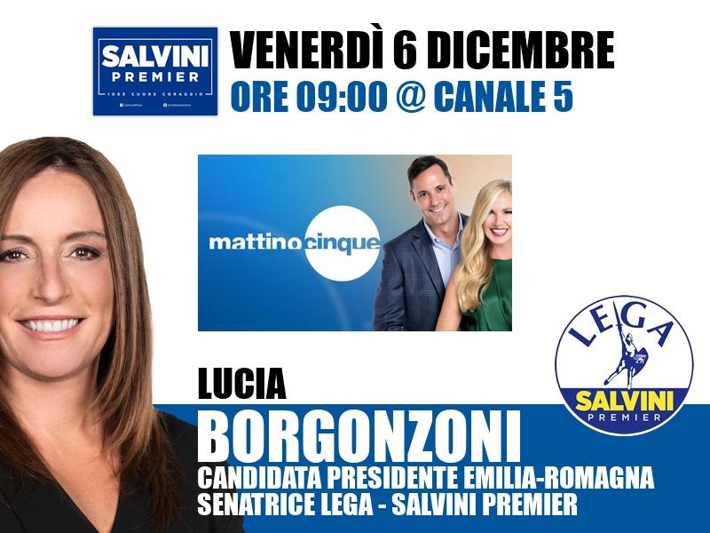 Lucia Borgonzoni a Mattino Cinque (Canale 5)