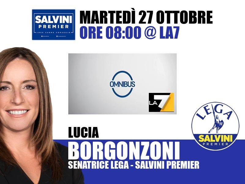 Lucia Borgonzoni a Omnibus (La7)