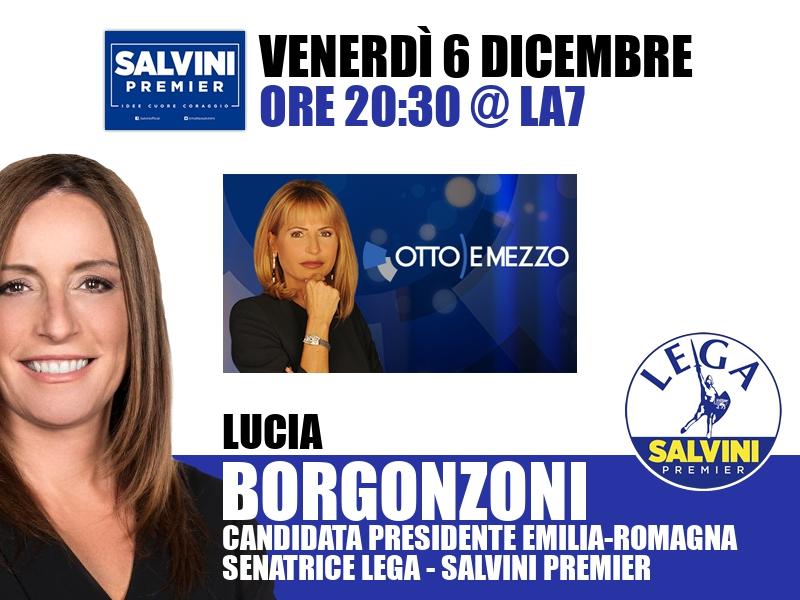 Lucia Borgonzoni a Otto e Mezzo (La7)