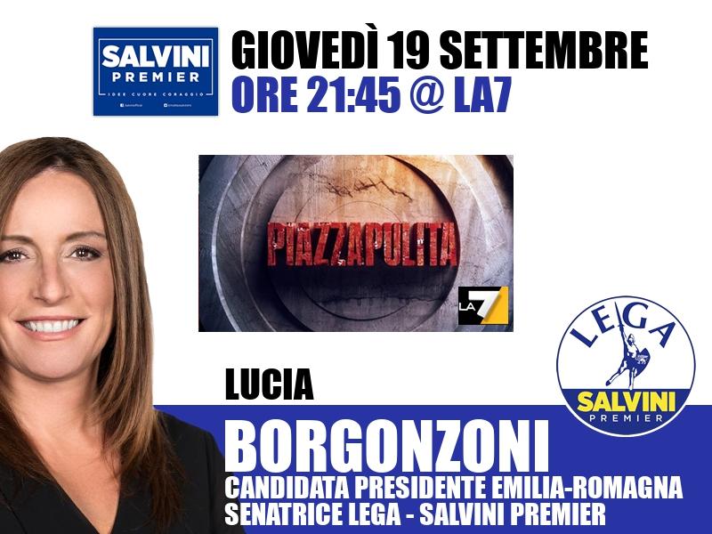 Lucia Borgonzoni a Piazza Pulita (La7)