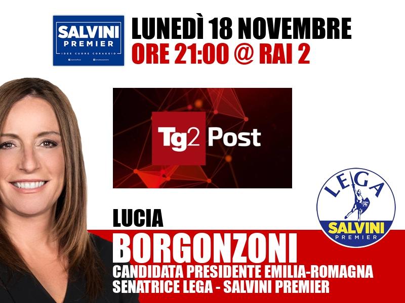 Lucia Borgonzoni a TG2 Post (Rai 2)