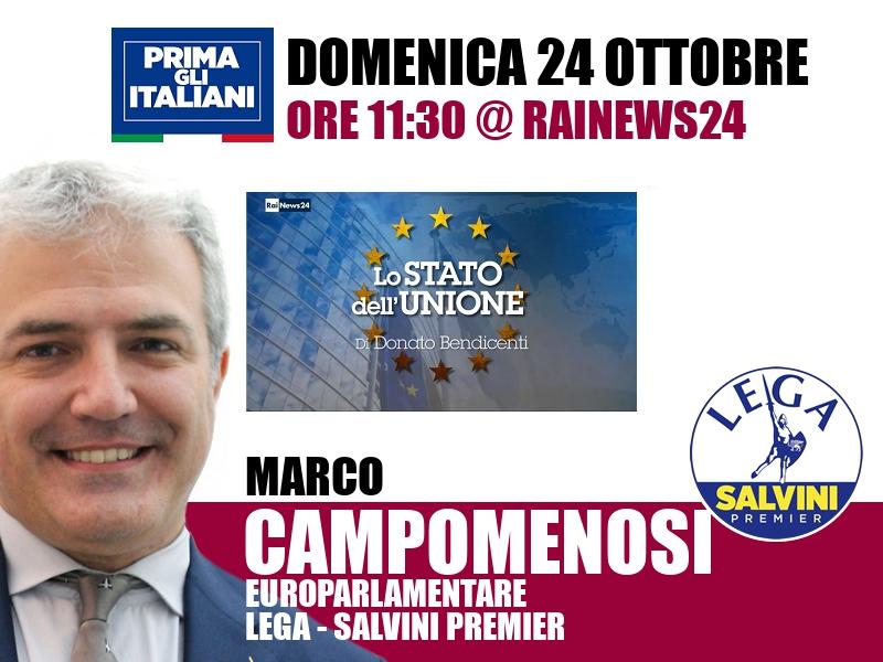 Marco Campomenosi a Lo Stato dell'Unione (RaiNews24)