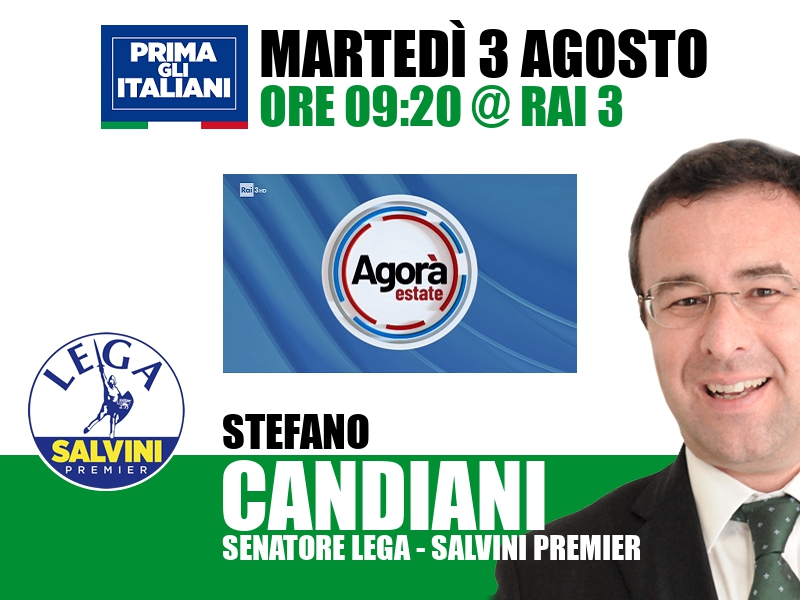 Stefano Candiani a Agorà Estate (Rai 3)
