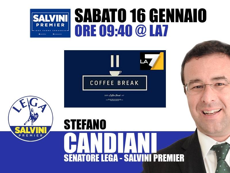 Stefano Candiani a Coffee Break (La7)