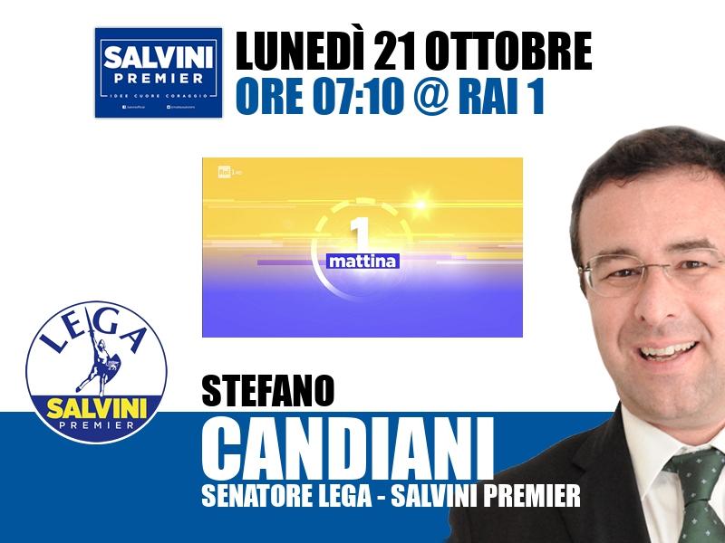 Stefano Candiani a UnoMattina (Rai 1)