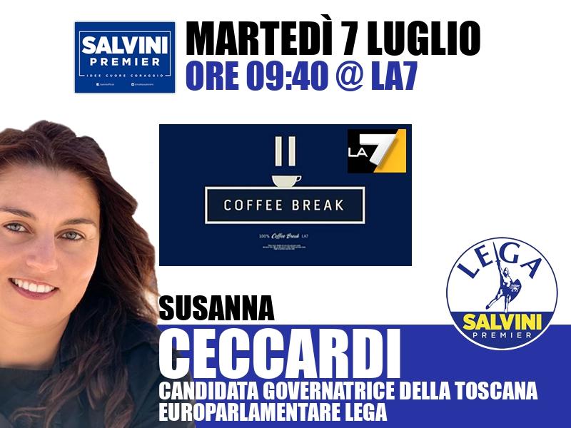 Susanna Ceccardi a Coffee Break (La7)
