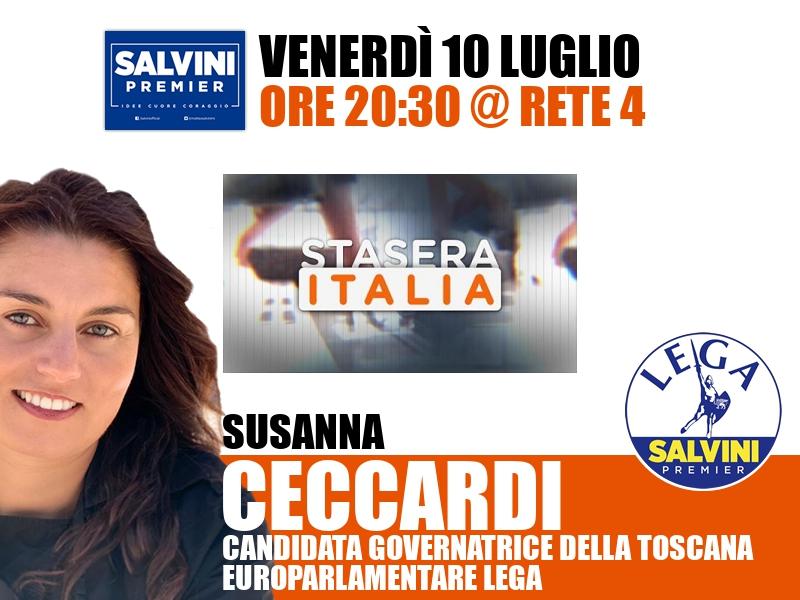 Susanna Ceccardi a Stasera Italia (Rete 4)