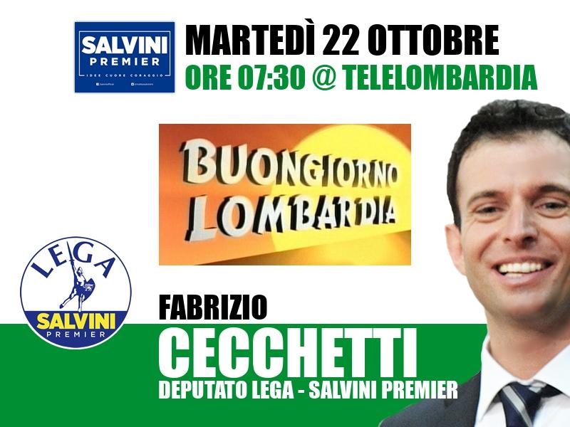 Fabrizio Cecchetti a Buongiorno Lombardia (Telelombardia)