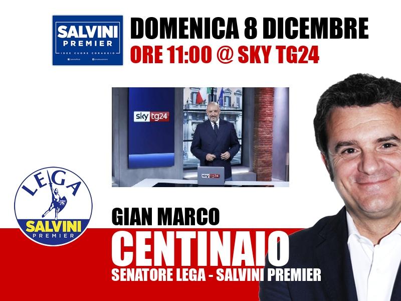 Gian Marco Centinaio a Agenda (Sky TG24)