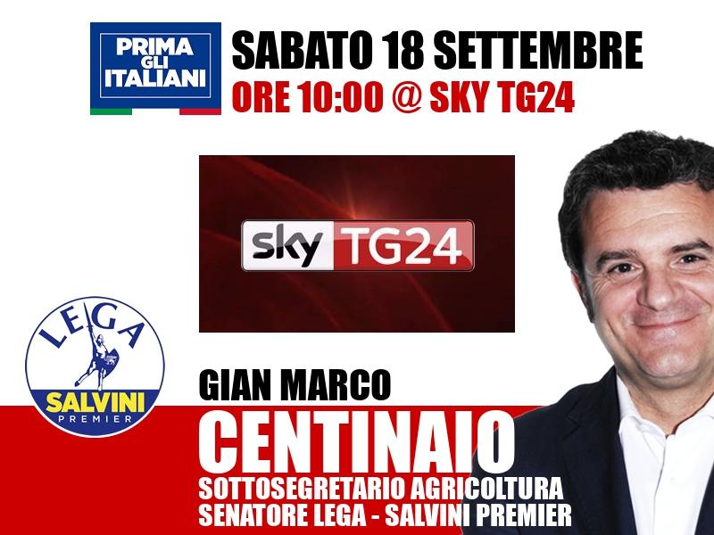 Gian Marco Centinaio a Dentro i fatti (Sky TG24)