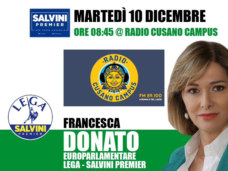 Francesca Donato a L'Italia s'è desta (Radio Cusano Campus)