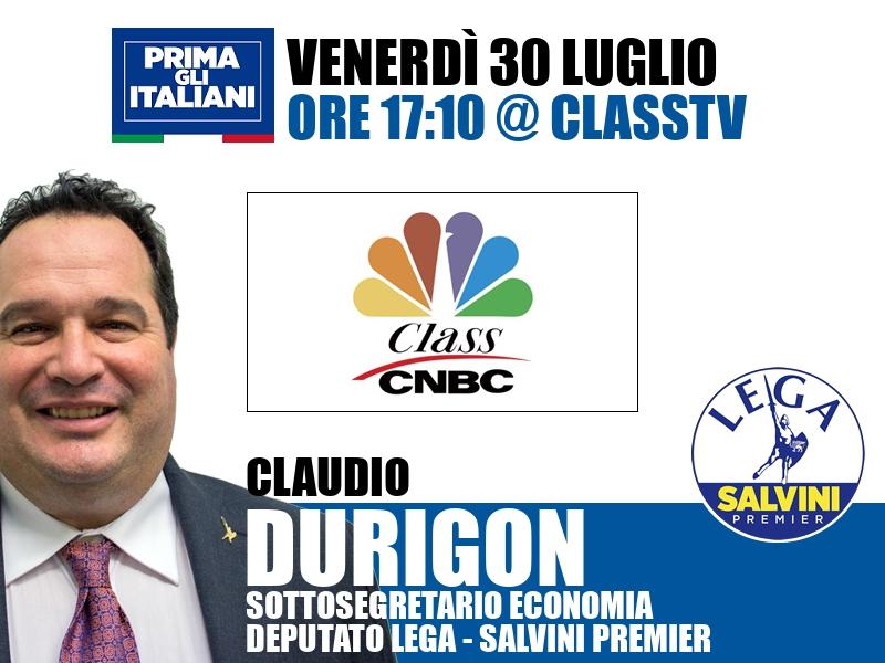 Claudio Durigon a Class CNBC (ClassTV)