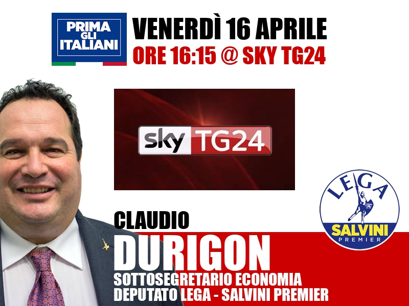 Claudio Durigon a Economia (Sky TG24)