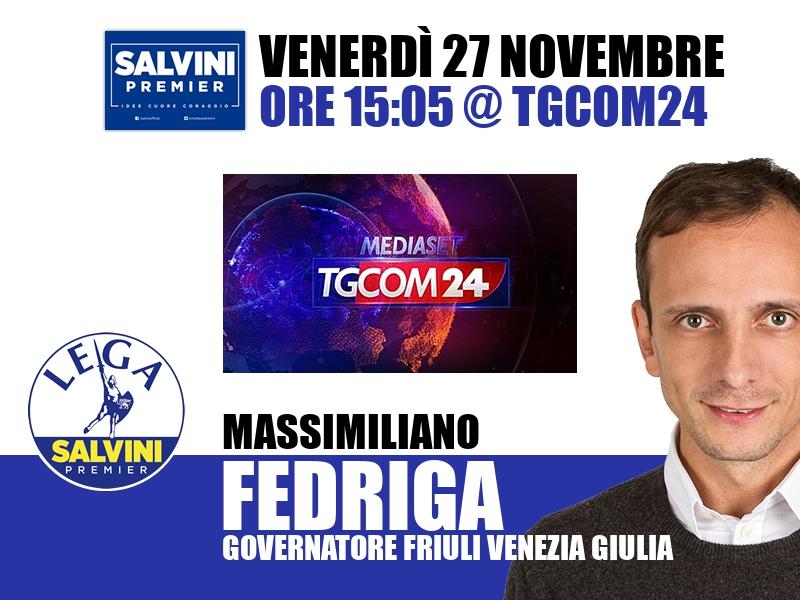 Massimiliano Fedriga a All News (Tgcom24)