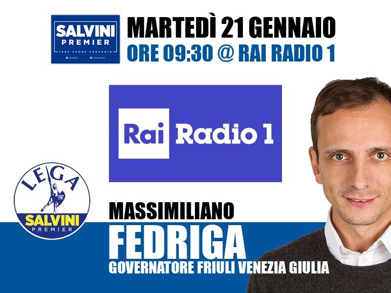 Massimiliano Fedriga a Centocittà (Rai Radio 1)