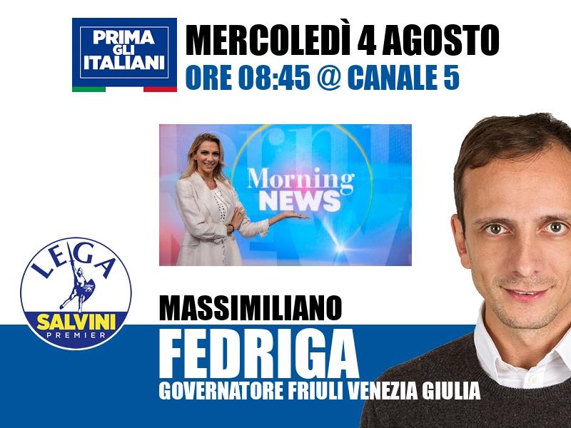 Massimiliano Fedriga a Morning News (Canale 5)