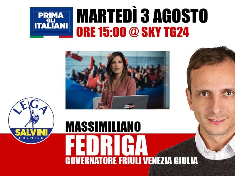 Massimiliano Fedriga a Timeline (Sky TG24)