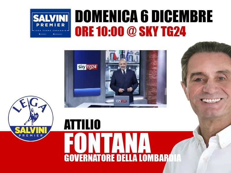 Attilio Fontana a Agenda (Sky TG24)