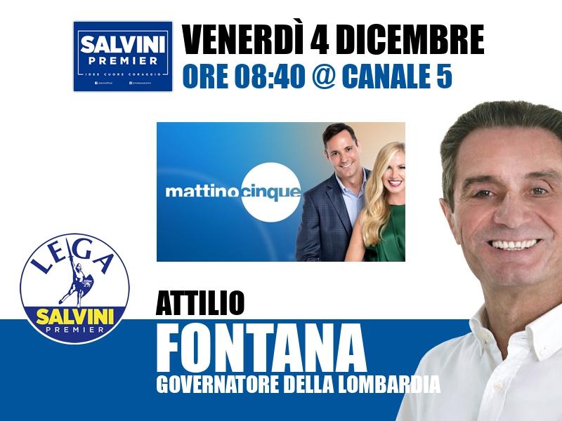 Attilio Fontana a Mattino Cinque (Canale 5)
