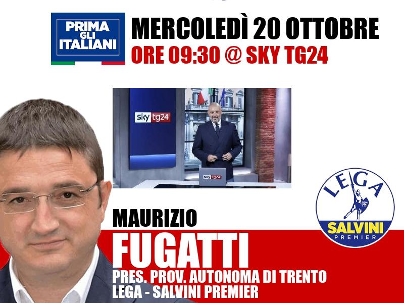 Maurizio Fugatti a Start (Sky TG24)