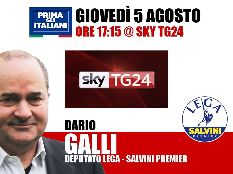Dario Galli a Economia (Sky TG24)