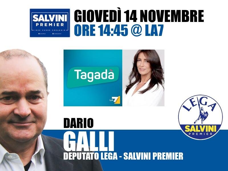 Dario Galli a Tagadà (La7)