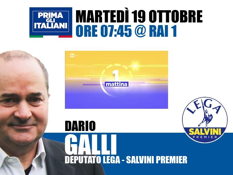 Dario Galli a UnoMattina (Rai 1)