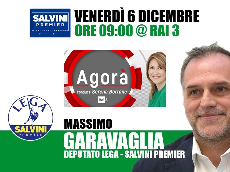 Massimo Garavaglia a Agorà (Rai 3)