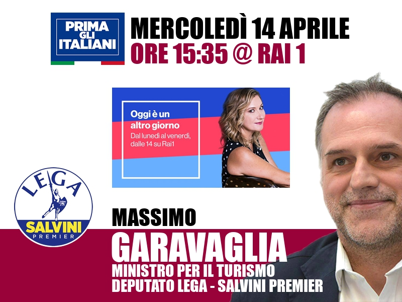 Massimo Garavaglia a Oggi è un altro giorno (Rai 1)