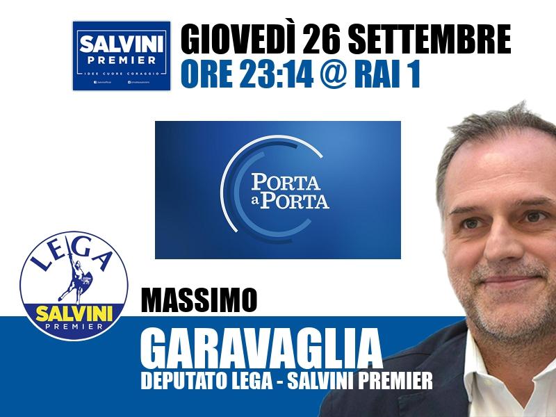 Massimo Garavaglia a Porta a Porta (Rai 1)