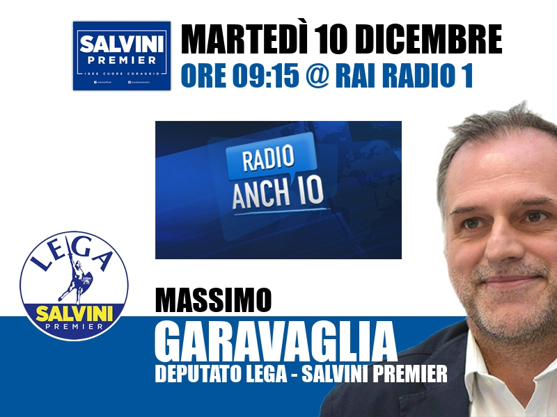 Massimo Garavaglia a Radio Anch'io (Rai Radio 1)