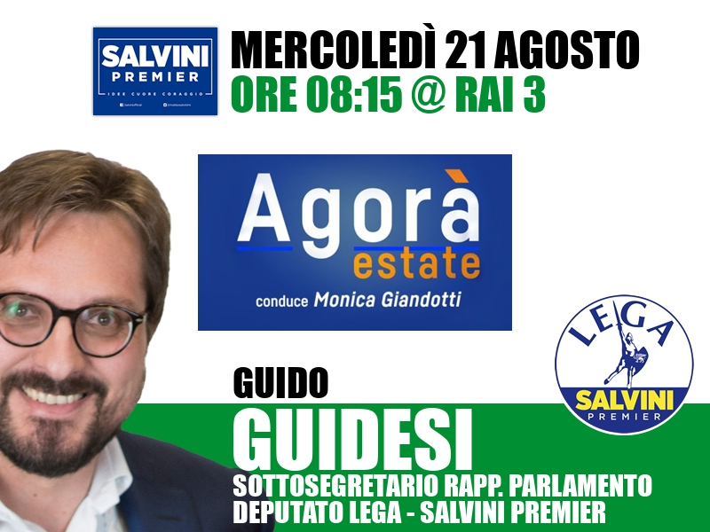 Guido Guidesi a Agorà Estate (Rai 3)