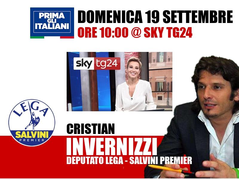 Cristian Invernizzi a Agenda (Sky TG24)