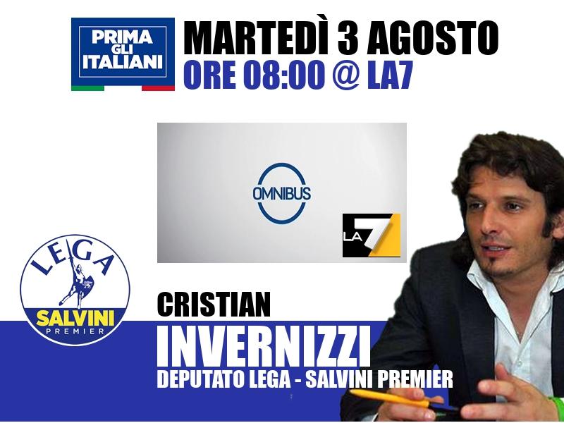 Cristian Invernizzi a Omnibus (La7)