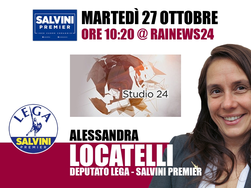 Alessandra Locatelli a Studio24 (RaiNews24)