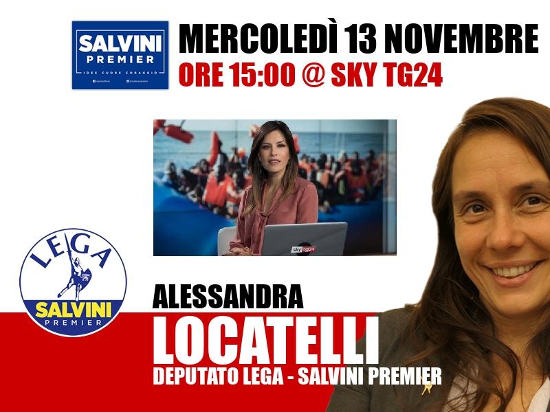 Alessandra Locatelli a Timeline (Sky TG24)