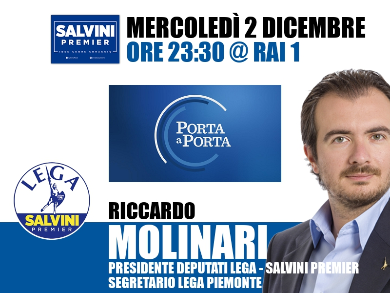 Riccardo Molinari a Porta a Porta (Rai 1)