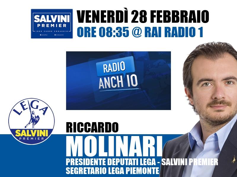 Riccardo Molinari a Radio Anch'io (Rai Radio 1)