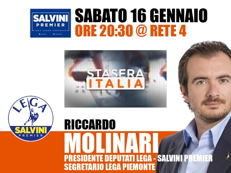 Riccardo Molinari a Stasera Italia (Rete 4)