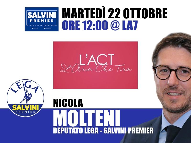 Nicola Molteni a L'Aria che Tira (La7)