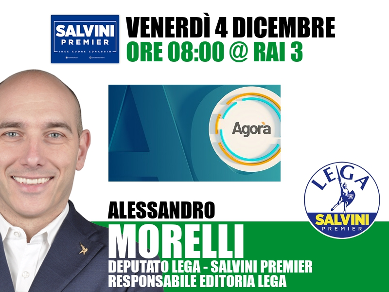 Alessandro Morelli a Agorà (Rai 3)